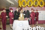 Qatar Airways'in 1 milyonuncu yolcusuna SAW'dan ödül