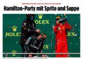 Hamilton Formula 1'i sebze çorbası ile kutladı