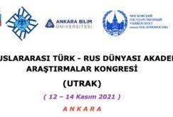 Türk - Rus Dünyası Akademik Araştırmalar Kongresi Kasım'da Ankara'da